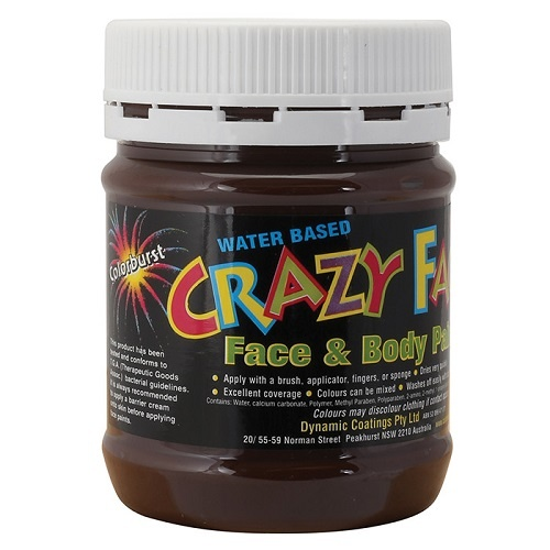 Crazy Faces Face & Body Paint Brown 250ml