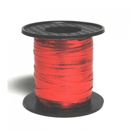 Metallic Curling Ribbon Red 225m