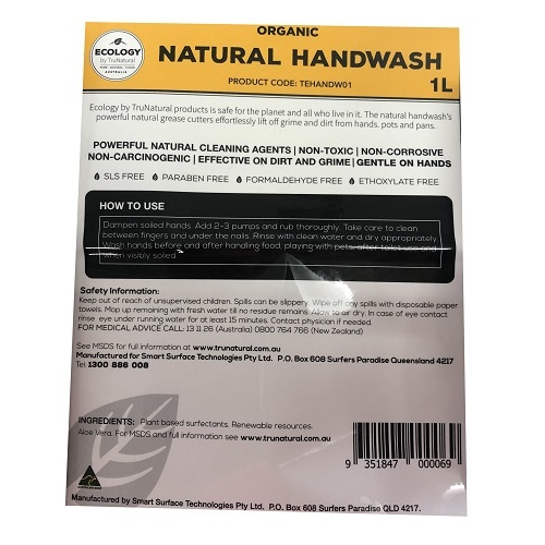 Natural Hand Cleaner Label (Ecology)