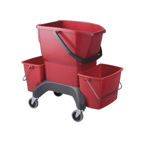Oates Ezy Ergo Bucket 25 Litre Red Twin IW-100R