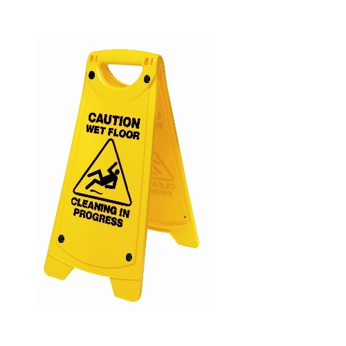 Oates Nonslip A Frame Caution or Wet Floor Sign Yellow IW-101