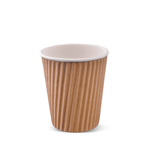 8 oz  Natural Brown Corrugated Tripple Wall Coffee Cup SLEEVE (25)