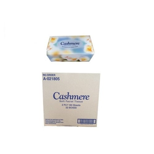 Cashmere Facial Tissue 2ply 180 sheets Carton