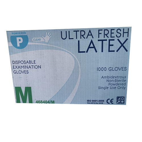 Latex Lightly Powdered Glove Medium Ctn (Pk 100 x10)