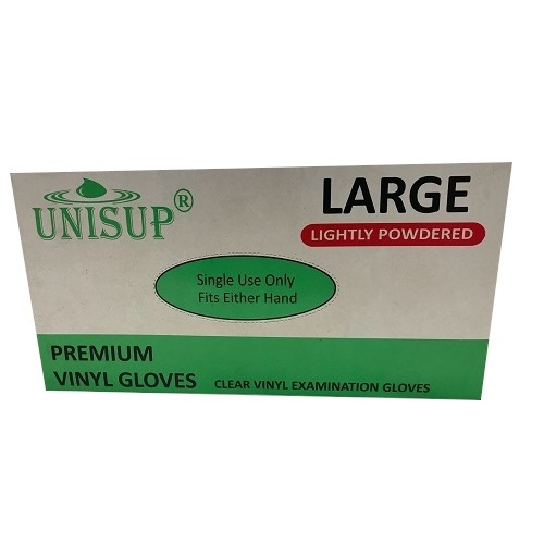 Vinyl Lightly Powdered Clear Glove Large Pk 100