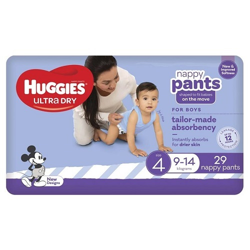 Huggies Nappy Pant Boy Toddler (9-14Kg) SIZE 4 Pack 29