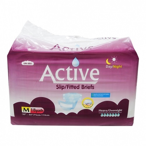 Active Slip Night Medium Ctn (Pk 18 x 4)