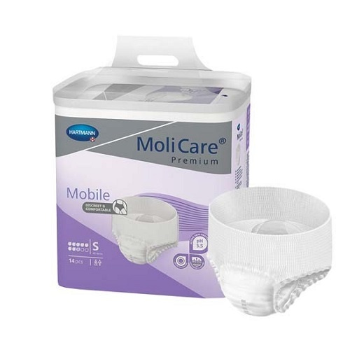 Molicare Premium Mobile 8 Drops SMALL (Pack 14 x 4)  60-90cm 1791ml