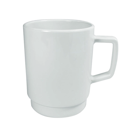 Ryner Melamine Stakable Mug 320ml White Pk 12