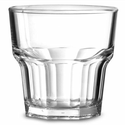 Polysafe Plastic Glass Look Rocks Tumblers 240ml CLEAR Stackable Ctn of 24