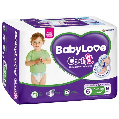 BabyLove Nappy Junior (16kg & Over) Ctn 60