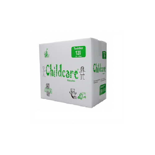 Childcare Nappy Toddler (10 to 15kg) Ctn 120 -