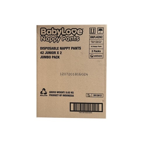 BabyLove Nappy Pant Junior (15-25Kg) Carton (42 x 2)