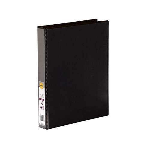 A4 25mm 2D Ring Binder Insert Black