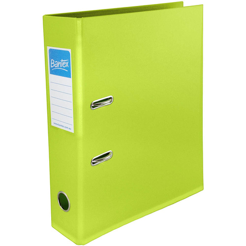 Bantex A4 Binder Lever Arch 70mm Lime